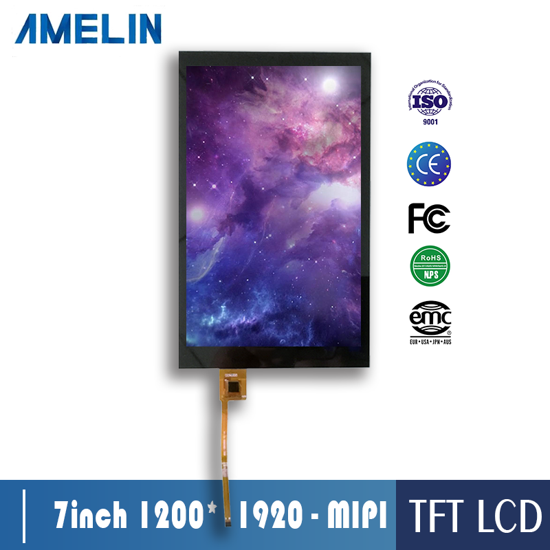 7 inch 1200*1920 touch panel tft lcd screen with MIPI LCD